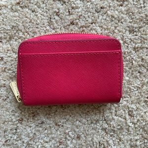 Michael Kors Bags - Michael Kors Hot Pink ZIP Card Wallet 💕
